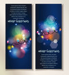 Holiday abstract banners with colorful garland