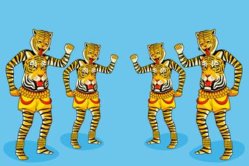 Puli Kali, tiger dance for Onam