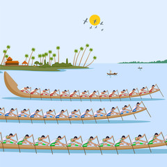 Boat race of Kerala for Onam celebration