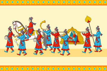 Indian wedding baraat ceremony