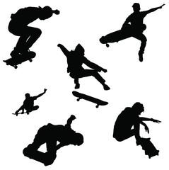 skateboarder vector pack