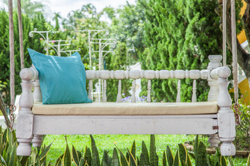 vintage swing and Turquoise blue green pillow