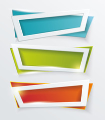 Vector modern banners or frames element design.
