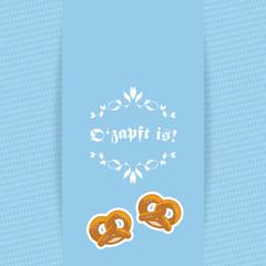 Oktoberfest O'zapft is! - Karte Card Brezel