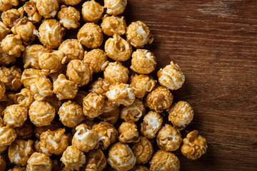 a lot of golden caramel corn background