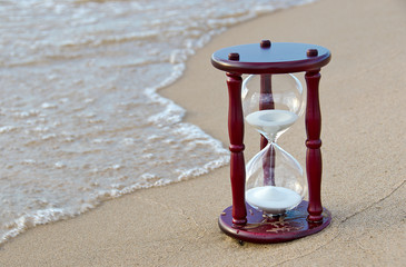 sand time at the seashore