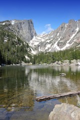 Dream Lake, Rocky Mountains. United States.