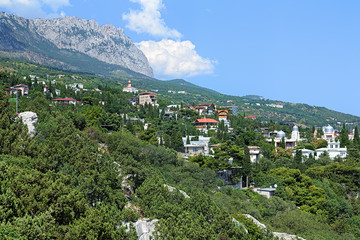 Simeiz settlement and Ai-Petri Mount in Crimea