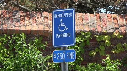 Handicapped Parking Signs, Warnings, Traffic Laws
