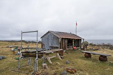 Biwakhütte am Lofotenstrand