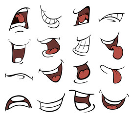 Set of mouths cartoon