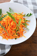 carrots salad with arugula, food