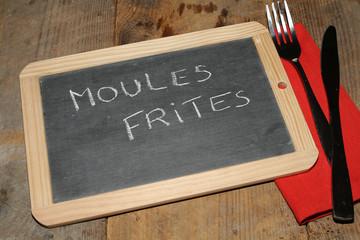 ardoise moules et frites