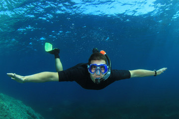 Snorkeling freediving