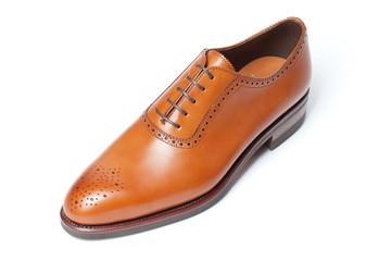 men's leather shoes closeup