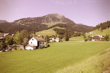 Austria village. Cross processed color tone.
