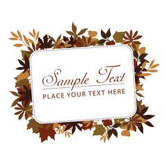 Herbst Blätter Banner Hintergrund Vektor