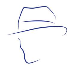 Kopf Gesicht Silhouette Vektor Abstrakt