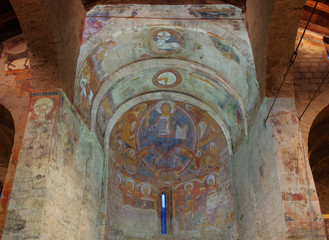Fresco paintings of the Pantocrator in  Sant Climent de Taull