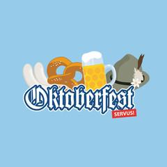 Oktoberfest Logo Plakat Werbung