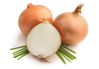 brown onions and chives