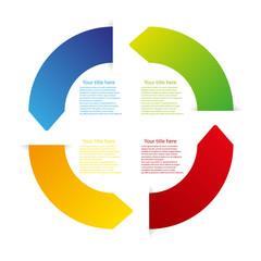 vector color arrow circle
