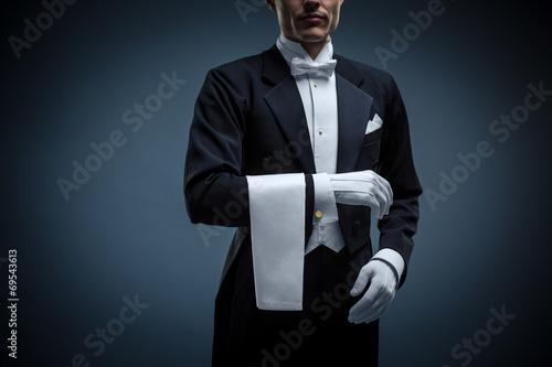 Leinwanddruck Bild Waiter