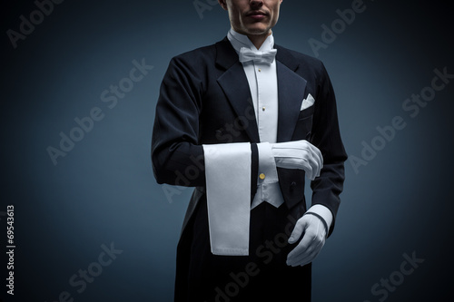 Leinwandbild Motiv Waiter