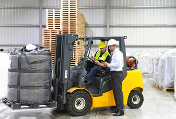 Manager & Workers in logistics