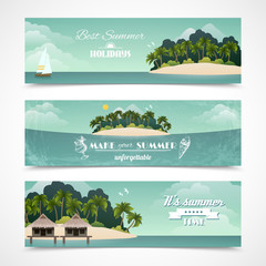 Island horizontal banners