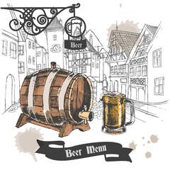 Beer bar menu poster