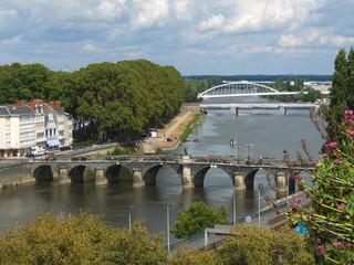 ponts sur la ville d'Angers