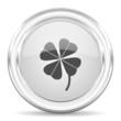 canvas print picture - four-leaf clover internet icon