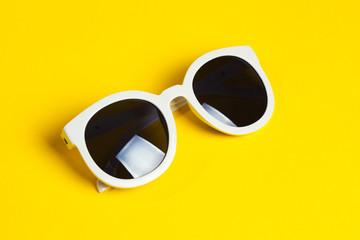 Stylish white sunglasses