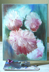Oil painting.