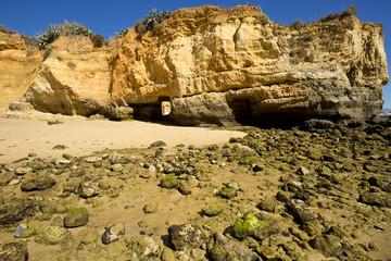 Praia da Batata, beach in Lagos in the Algarve Portugal