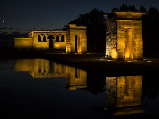 Temple of Debod. Egyptian temple in Madrid