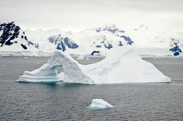Antarctica - Non-Tabular Iceberg - Pinnacle Shaped Iceberg