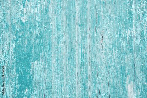 canvas print picture Altes Holz in türkis blau als Hintergrund