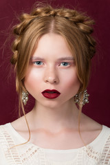 Russsian styled beauty portrait