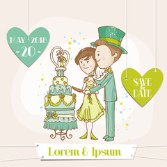 Bride and Groom - Save the Date Wedding Card