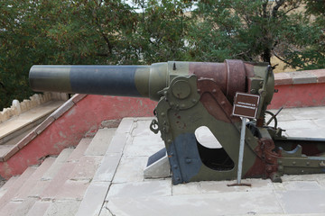 The Cannon in Aziziye Fort I in Erzurum, Turkey.