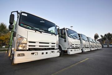 Trucks in a row
