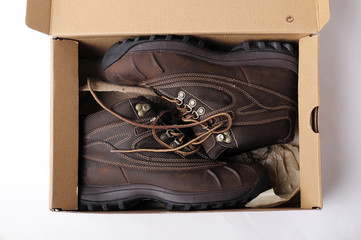 boots, brown, box, classic, protector, shoes, style, vintage