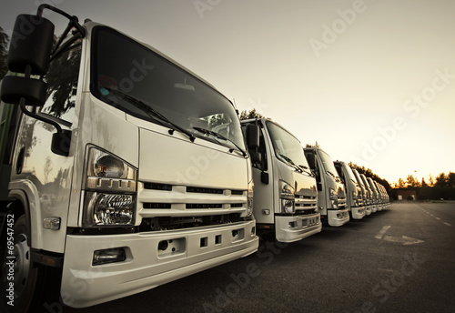 Trucks in a row poster