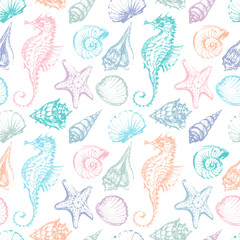 pattern of the sea creatures