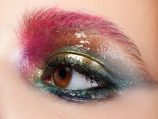 Modern fashion liquid latex creative eye makeup