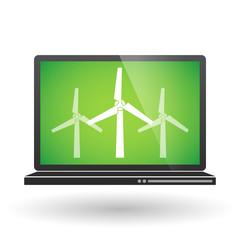 Laptop with wind generators