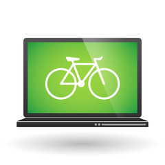 Laptop with a bicycle