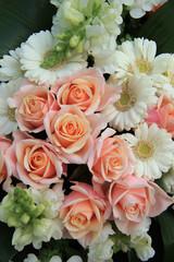 Roses and gerberas wedding flowers